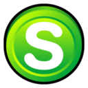 128x128px size png icon of Skype Alternate