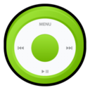 128x128px size png icon of iPod Green
