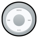 128x128px size png icon of iPod Silver