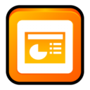 128x128px size png icon of MS Office 2003 PowerPoint