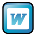 128x128px size png icon of MS Office 2003 Word