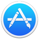 128x128px size png icon of Apple Appstore Border