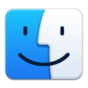 128x128px size png icon of Apple Finder
