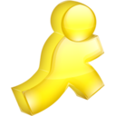 128x128px size png icon of AIM yellow