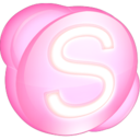 128x128px size png icon of Skype pink