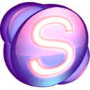 128x128px size png icon of Skype purple