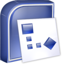 128x128px size png icon of Visio