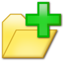 128x128px size png icon of Add folder