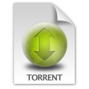 128x128px size png icon of Torrent Document