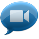 128x128px size png icon of iChat Blue