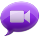128x128px size png icon of iChat Purple