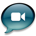 128x128px size png icon of iChat donkerblauw