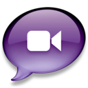 128x128px size png icon of iChat donkerpaars