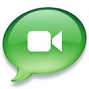 128x128px size png icon of iChat groen 2