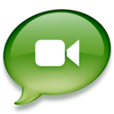 128x128px size png icon of iChat groen