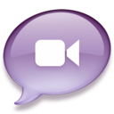 128x128px size png icon of iChat lichtpaars