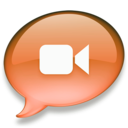 128x128px size png icon of iChat oranje