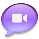 128x128px size png icon of iChat paars