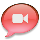 128x128px size png icon of iChat rood 2