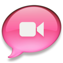 128x128px size png icon of iChat roze