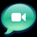 128x128px size png icon of iChat zeegroen