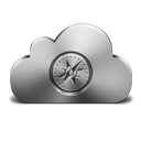 128x128px size png icon of Safari Silver