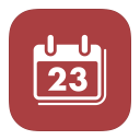 128x128px size png icon of MetroUI Apps Mac iCal