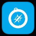 128x128px size png icon of MetroUI Browser Safari Alt