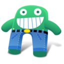 128x128px size png icon of Green Blue Pants