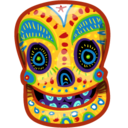 128x128px size png icon of Painted Skull 2