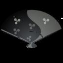 128x128px size png icon of Fan black