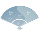 128x128px size png icon of Fan blue