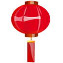 128x128px size png icon of Lamp red