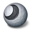 128x128px size png icon of Orbz moon