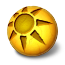 128x128px size png icon of Orbz sun