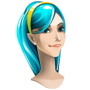 128x128px size png icon of browser girl internet explorer