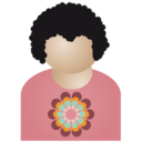 Afro man flower Icon