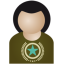 128x128px size png icon of Afro man star