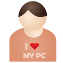 128x128px size png icon of I love my pc