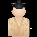 128x128px size png icon of Kimono women beige