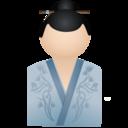 128x128px size png icon of Kimono women blue