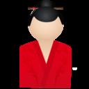 128x128px size png icon of Kimono women red