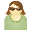 Sunglass woman green Icon