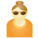 128x128px size png icon of Sunglass woman orange