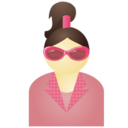 Sunglass woman pink Icon