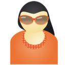 128x128px size png icon of Sunglass woman red