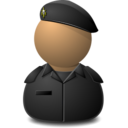 128x128px size png icon of Elite Captain Black
