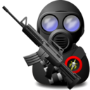 128x128px size png icon of Gas Soldier with Weapon