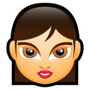 128x128px size png icon of Female Face FA 4