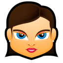 128x128px size png icon of Female Face FB 1